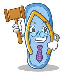 Judge flip flops character cartoon vector