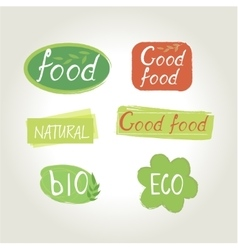 Labels food designs vector image