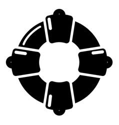 lifebuoy icon simple black style vector image