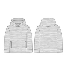Melange fabric hoodie on white background vector