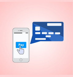 Mobile payments concept vector