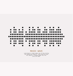 music wave player logo black equalizer element vector image
