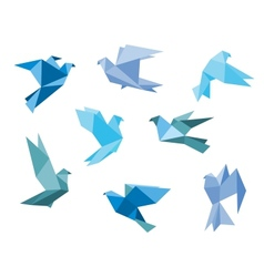 Paper pigeons and doves vector image