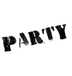 Party rubber stamp vector