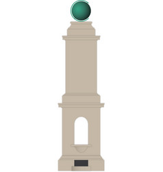 Peacehaven prime meridian monument simple vector