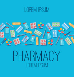 Pharmacy poster flat icons vector