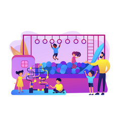 Playroom for kids concept vector