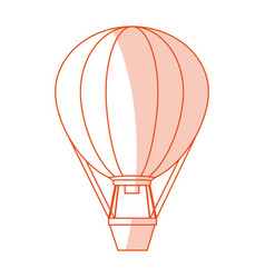 red silhouette shading image hot air balloon vector image