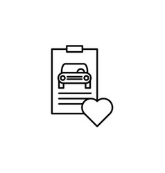 Report car heart icon can be used for web logo vector
