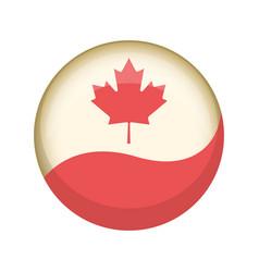 Retro canada campaign button vector