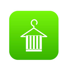 scarf on a coat hanger icon digital green vector image