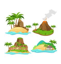 set of different scenes vector image