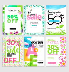 Set of mobile sale banners vector