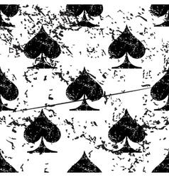 Spades pattern grunge monochrome vector