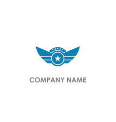 star wing emblem design logo vector image