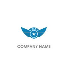 star wing emblem design logo vector image