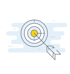 Target with arrow icon - goal achieve concept vector