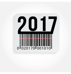 text 2017 and barcode vector image