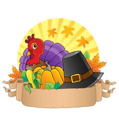 Thanksgiving theme parchment 3 vector