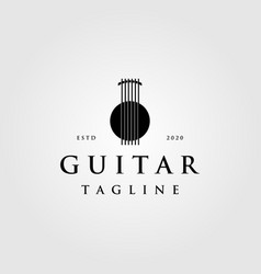 vintage luxury abstract logo symbol for guitar vector image