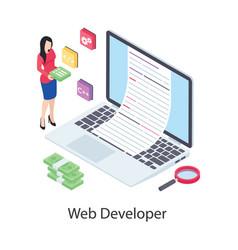Web developer vector
