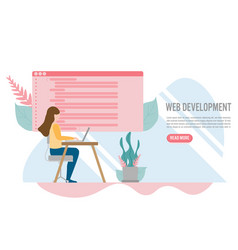 web development for website and mobile website vector image