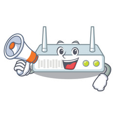 with megaphone router in the a character shape vector image