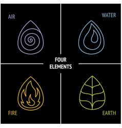 4 elements nature vector
