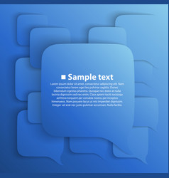 chat background blue vector image vector image