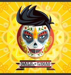 Dia De Los Muertos Day Of The Dead Face Painting vector image vector image