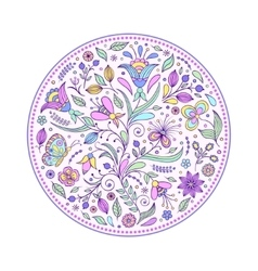 floral hand drawn colorful pattern vector image vector image