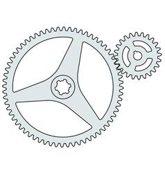 Gear pair vector image