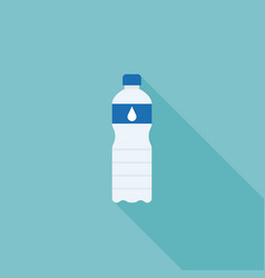 mineral water bottle flat design icon vector image vector image