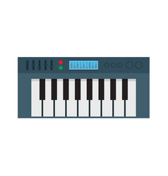 music synthesizer electronic piano vector image