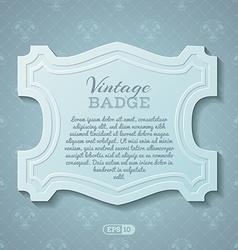 vintage badge vector image vector image