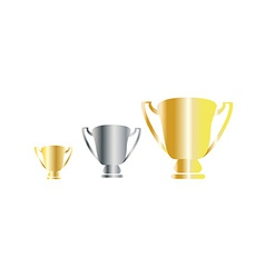 Award cup vector image vector image