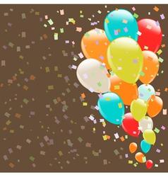balloons background retro vector image vector image