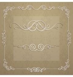 elegant frame for design vector image vector image
