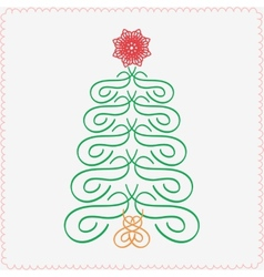 Hand-drawn christmas tree Typographic and vector image