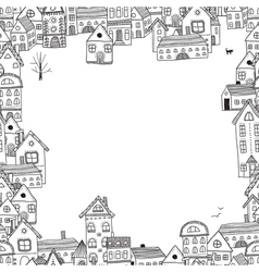 houses frame for your text vector image