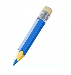 pencil drawing line vector image vector image