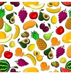 Seamless pattern of healthy fresh fruits vector image