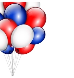 Background with party balloons and place for your vector image vector image