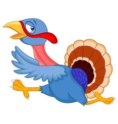 Cartoon turkey running vector
