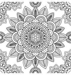 Ethnic seamless pattern coloring pages template vector image vector image