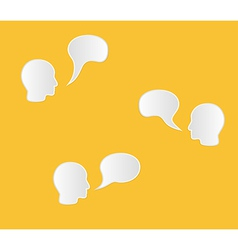 face and speak bubble vector image vector image