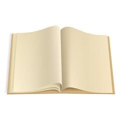 blank book pages template vector image vector image