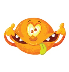 crazy orange vector image