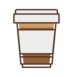 Glass disposable for hot drinks with lid vector