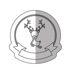 Isolated reindeer of Christmas season design vector image
